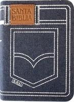Biblia Jean Azul con cierre