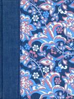 Biblia de Apuntes Tela Rosado/Azul