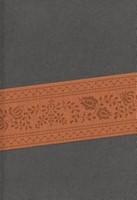 Biblia Letra Grande con Cierre Gris/Marron