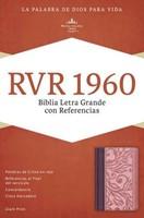 Biblia Letra Gigante Simil Piel Borravino/Rosado