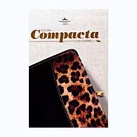 Biblia Compacta con Cierre Negro/Leopardo