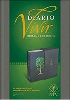 Biblia NTV de Estudio Diario Vivir Gris con bordado