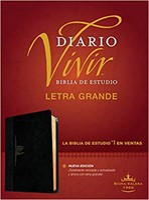 Biblia Diario Vivir RVR Letra Grande Negro Onice