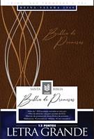 Biblia de Promesas Letra Grande Piel Especial Café Moderno