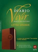 Biblia NTV de Estudio Diario Vivir Letra Grande Café
