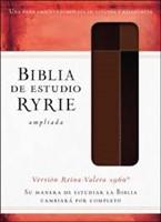 Biblia de Estudio Ryrie Ampliada Duo Tono Marrón