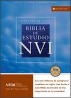 Biblia de Estudio NVI Imitación Piel Negro