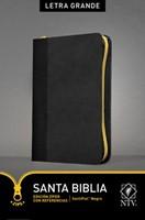 Biblia NTV Letra Grande con Cierre Senti Piel Negro