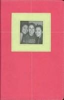 Biblia NVI G3 Piel Italiana 2 Tonos Rosa Verde