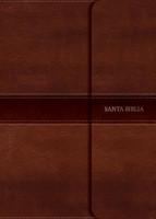 Biblia NVI Compacta Letra Grande Solapa Símil Piel con Índice Marrón