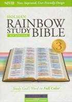 NIV Rainbow Study Bible Piel Lila índice