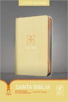 Biblia NTV Letra Grande con cierre Beige