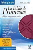 Biblia de Promesas L/G Piel Esp. Rosa