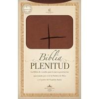Biblia Estudio Plenitud RVR60 Piel Café Claro