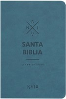 Biblia NVI Letra Grande Cuero Italiano Azul