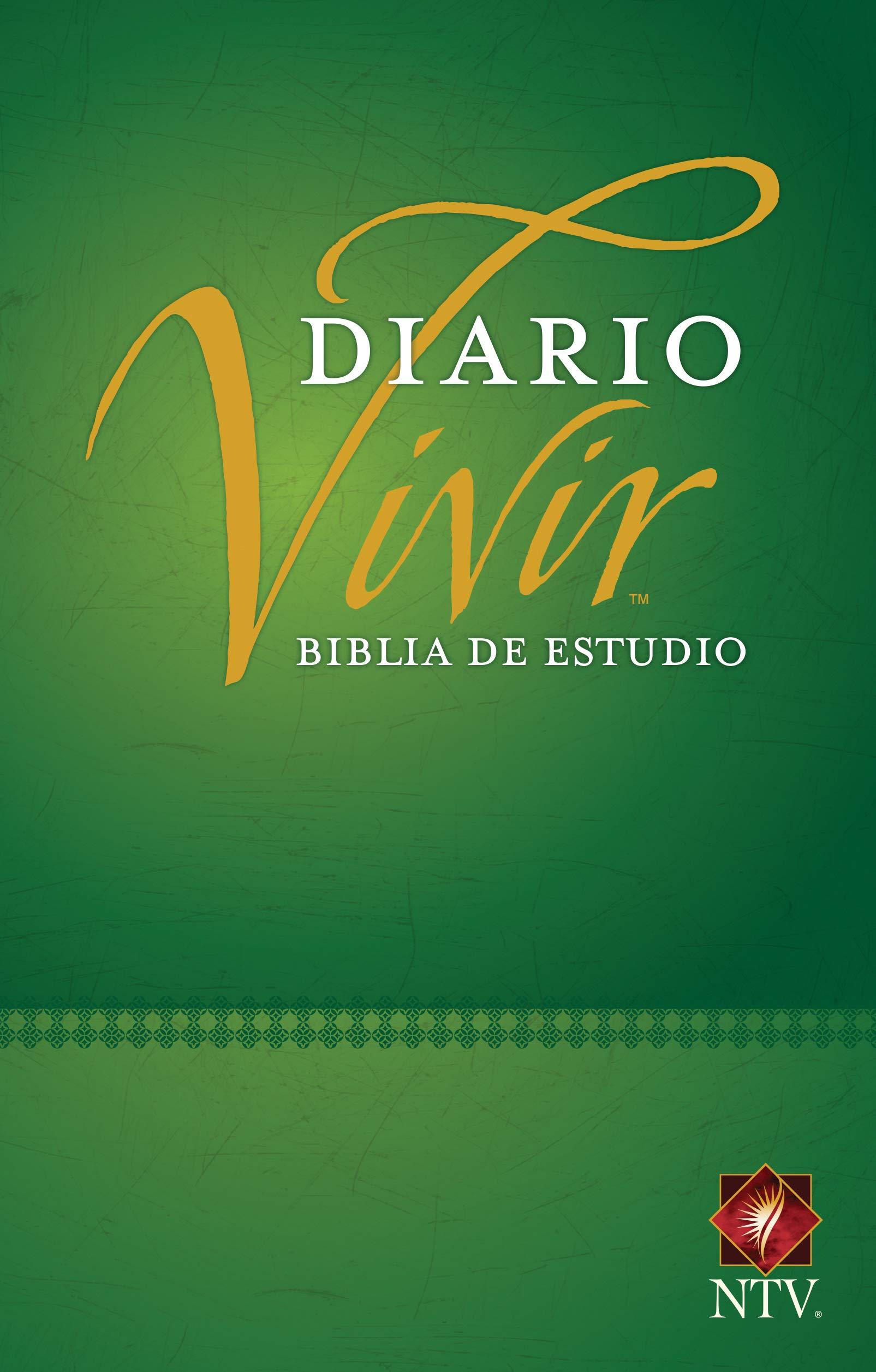 Biblia NTV de Estudio Diario Vivir Tamaño Personal Verde