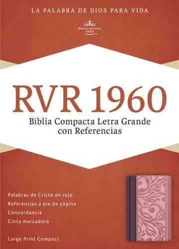 Biblia Compacta Simil Piel Borravino Rosado