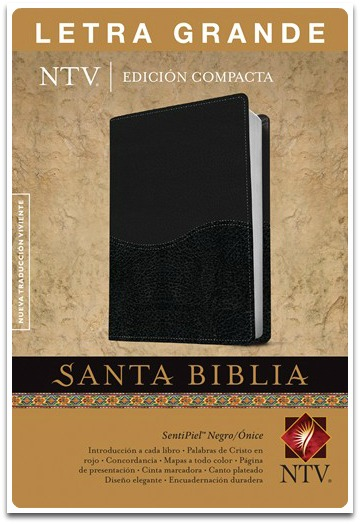 Biblia NTV Compacta Imitación Piel Negro Letra Grande