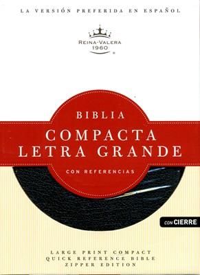 Biblia Letra Grande Compacta Imitación Piel Negro con Cierre