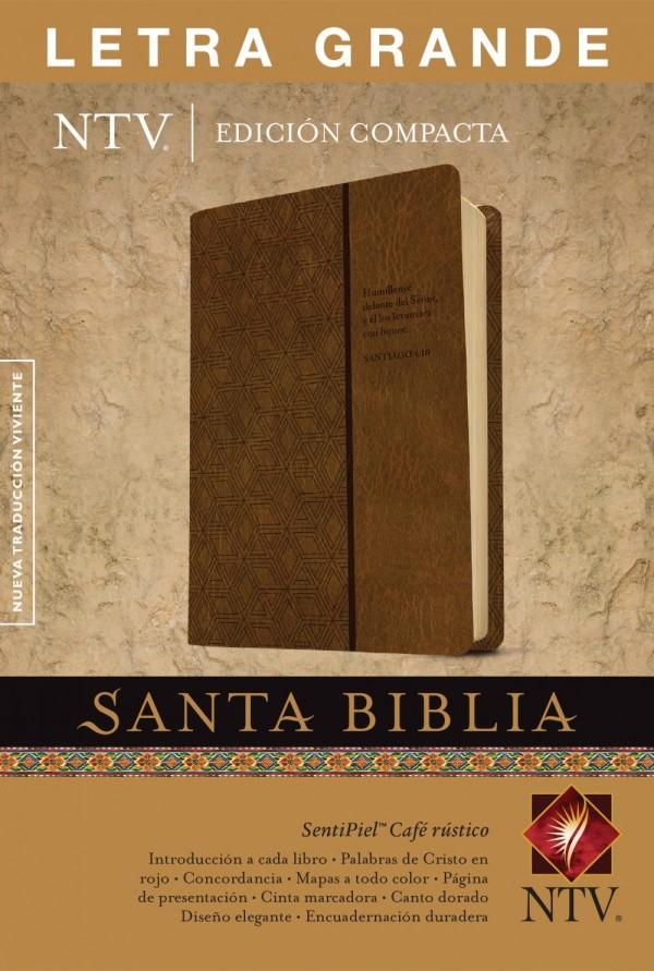 Biblia NTV Compacta Letra Grande Cafe