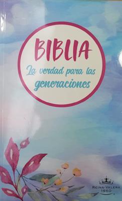 Biblia Verdad para las Generaciones RVR60 Letra Grande  Celeste