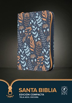 Biblia NTV Compacta con Cierre Azul Flores