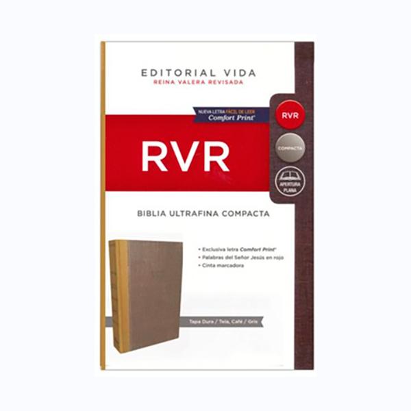 Biblia RVR Compacta TD Ocre/Gris