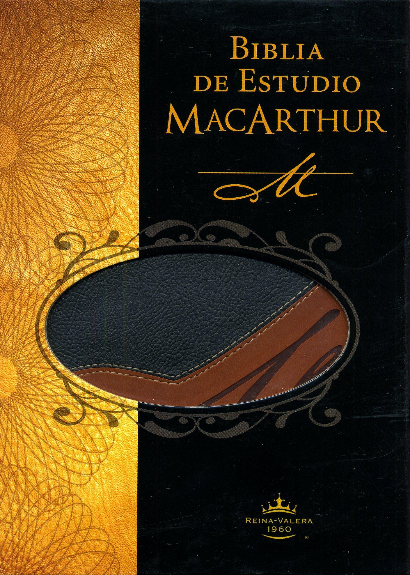 Biblia Estudio MacArthur Piel Dos Tonos